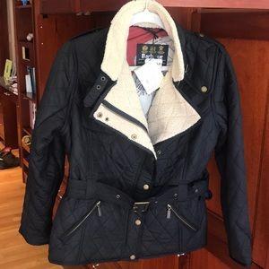 Women's Barbour Matlock Black Quilt Jacket NWT
